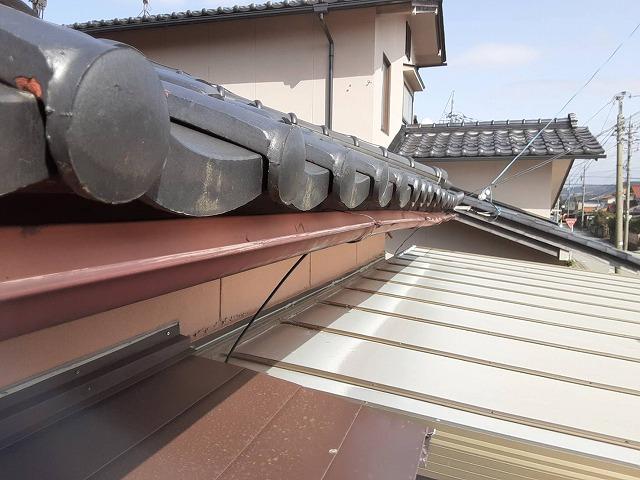 野々市市本町の方で屋根の現場調査「棟、雨樋」