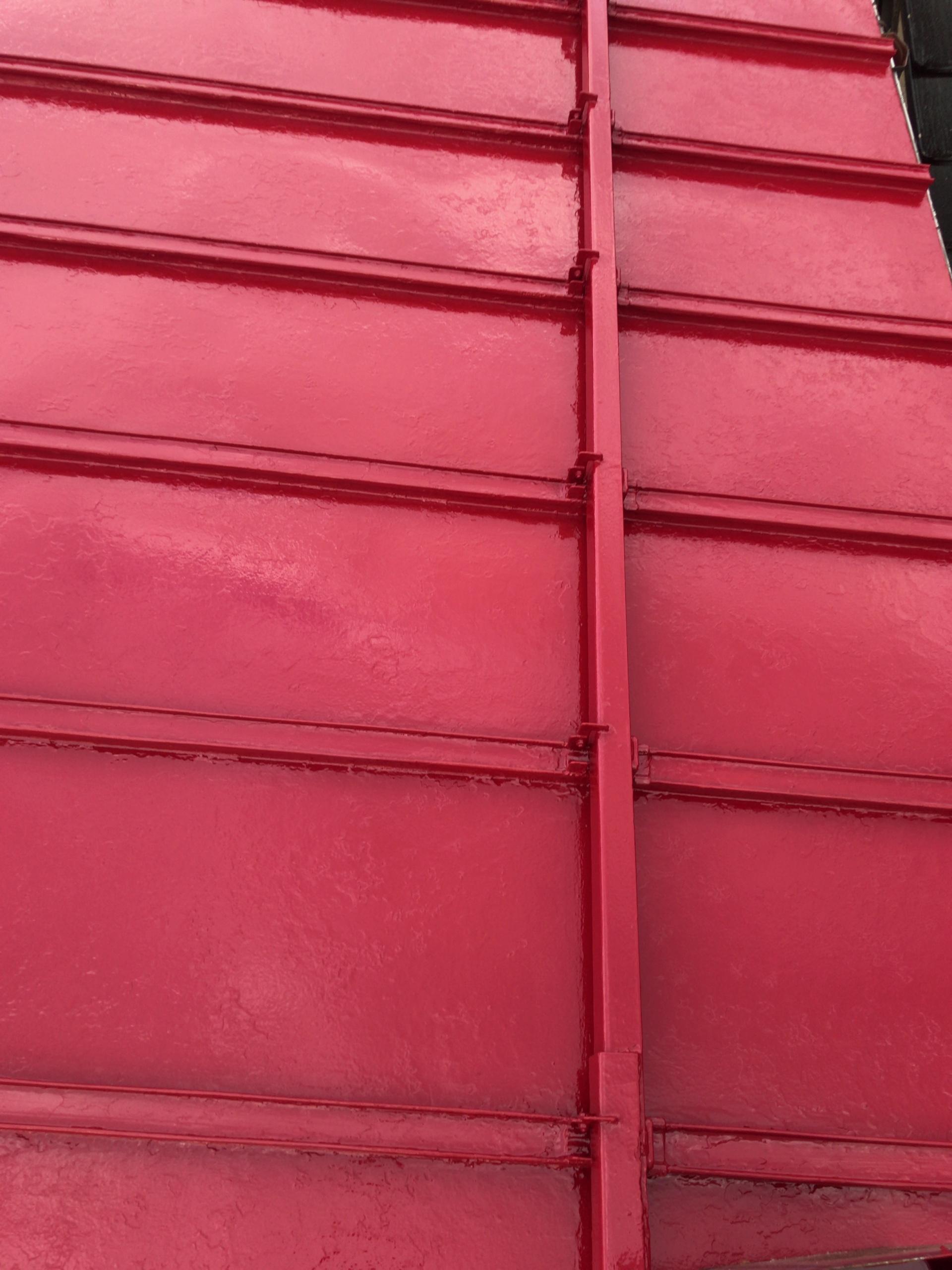 屋根塗装一度目