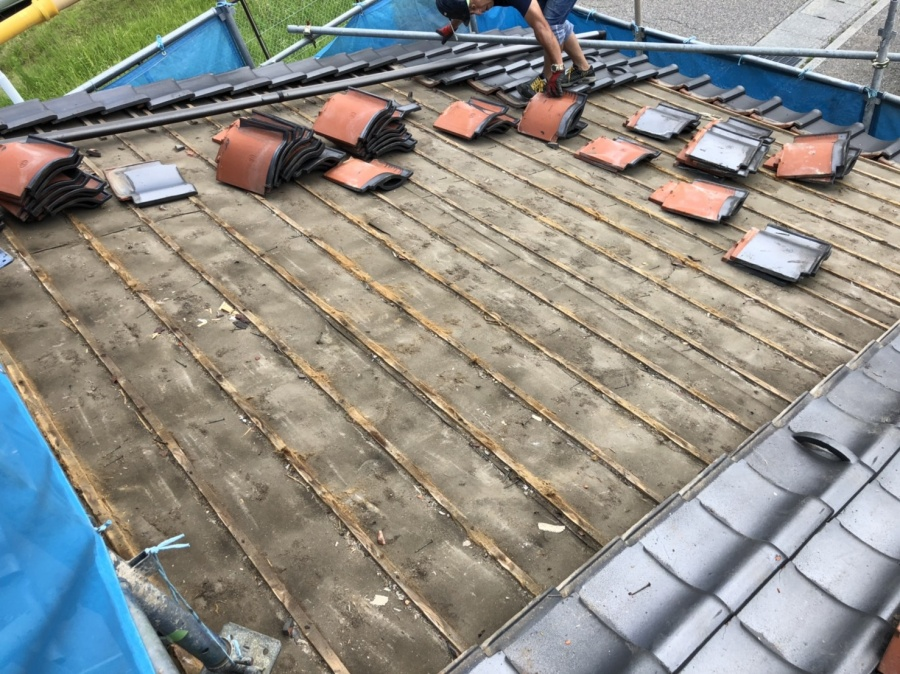 金沢市での築23年の住宅での屋根葺き替え工事