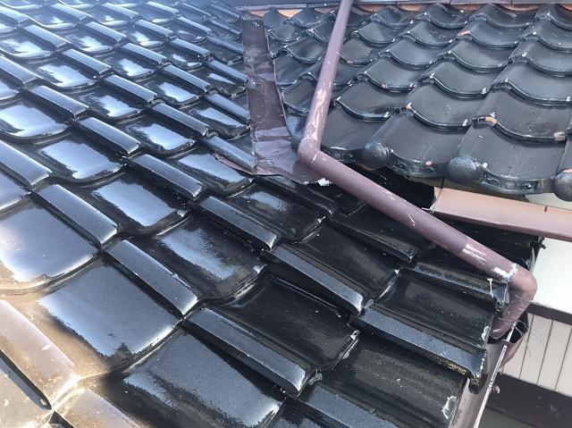 金沢市諸江町の住宅で雨漏り工事の現場調査にきました